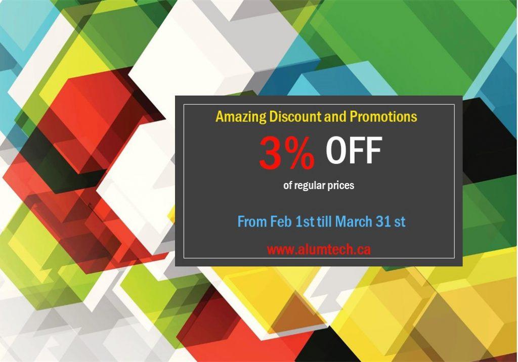 Alumtech.ca promotion Feb 2020 3% OFF
