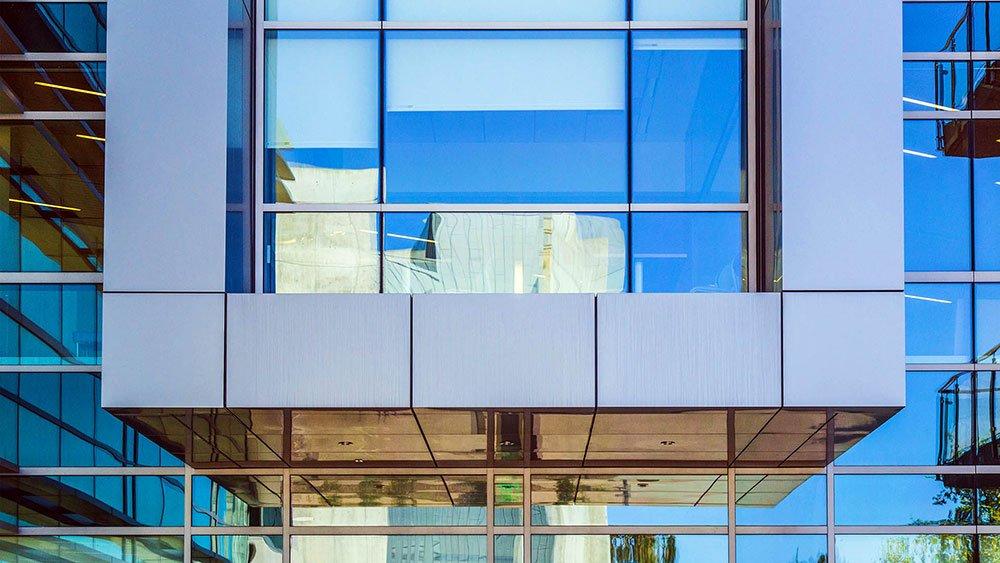 aluminum composite panel on building