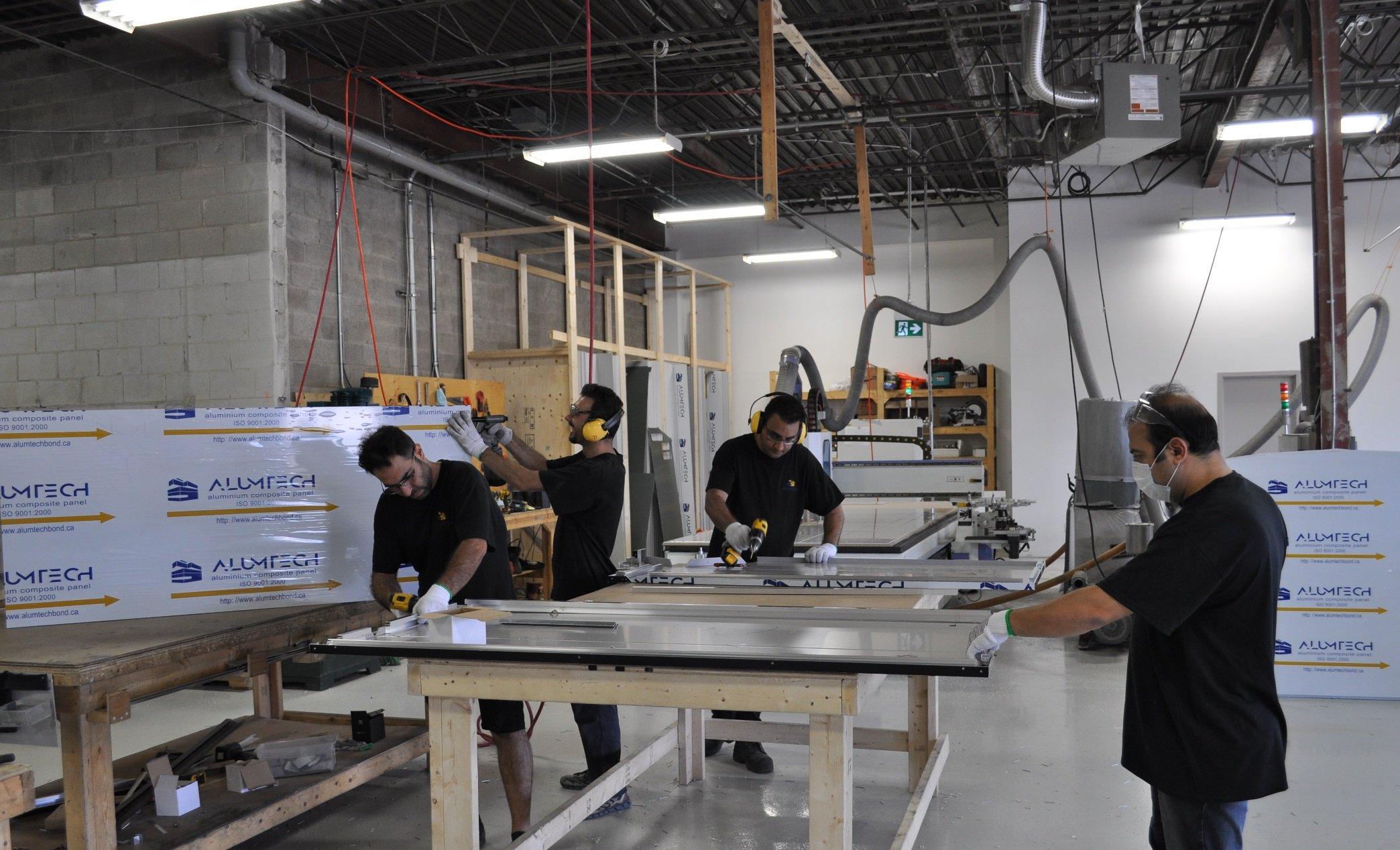 Alumtech fabrication department, June 2020