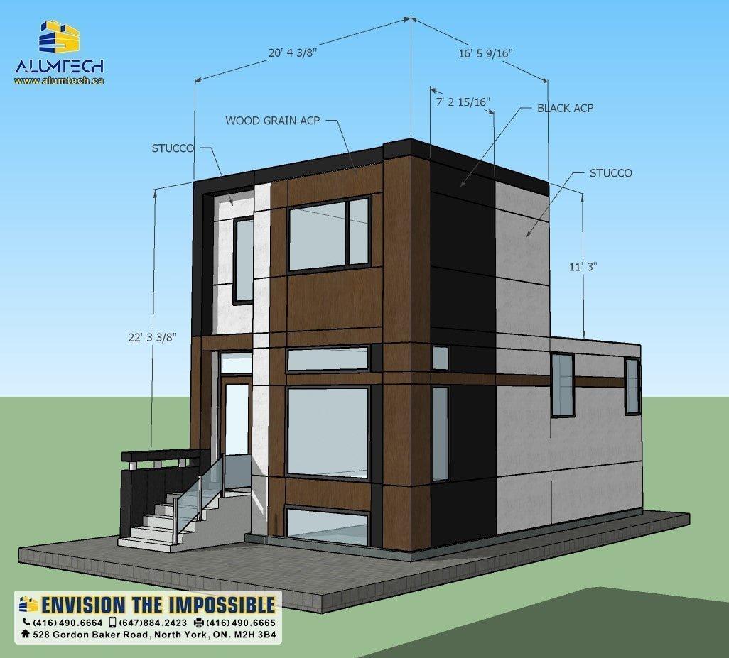 acp acm aluminum composite panels Alumtech residential projects (2)