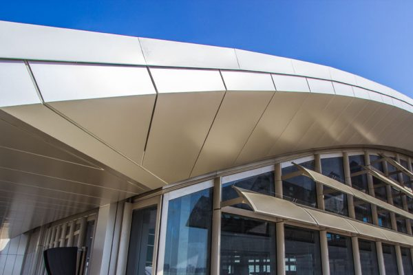 aluminum composite panel on the roof